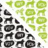Dogs svart/vit och grön