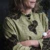 Lång skjorta - detalj mönster Drakblad